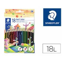 Lapices de colores Staedtler Wopex ecológicos 18 colores largos