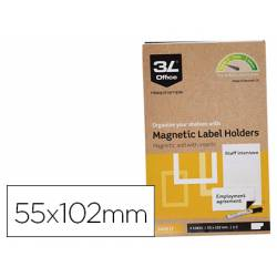 Portaetiquetas Magnetico 3l Office 55x102 mm Pack 3 unidades