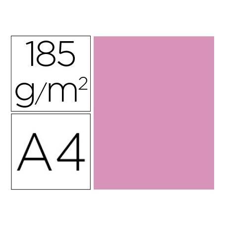 Cartulina Gvarro Rosa chicle A4 185 g/m2 Paquete de 50