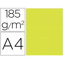 Cartulina Gvarro Kiwi A4 185 g/m2 Paquete de 50