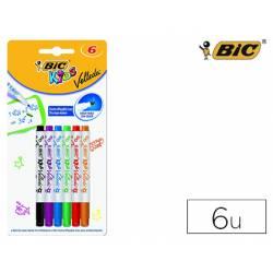 Rotulador Bic velleda Kids para pizarra 2 mm blister 6 colores surtidos