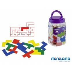 Juego educativo de 5 a 12 años Pentominos de colores Miniland