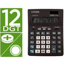 Calculadora Citizen Business line 200x157x35 mm Eco Solar y pilas 12 Digitos
