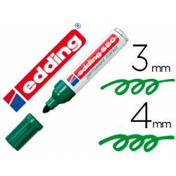 Rotulador Permanente Edding 550 Recargable Verde