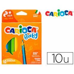 Lapices de Colores Carioca Baby Ergonomicos Colores Surtidos Caja de 10 unidades