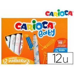 Rotulador Carioca Baby Punta Gruesa Lavables Colores Surtidos Caja de 12 unidades