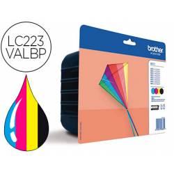 Cartucho Brother LC223VALBP Pack de 4 colores 550 páginas