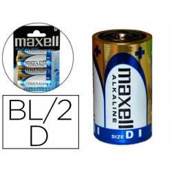 Pilas Maxell Alcalina 1.5 V D LR20 Blister con 2 unidades