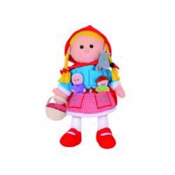Marioneta de mano y de dedos Personajes Caperucita a partir de 3 años marca Fiesta Crafts