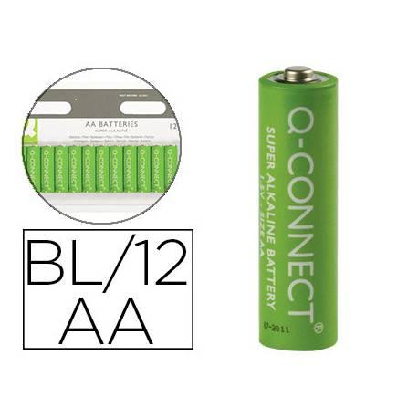 Pila Q-Connect Alcalina AA Blister de 12 unidades