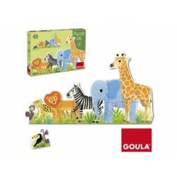 Puzzle a partir de 2 años Animales de la Selva XXL 16 piezas marca Goula
