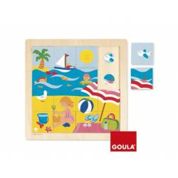 Puzzle Verano a partir de 2 años 16 piezas marca Goula