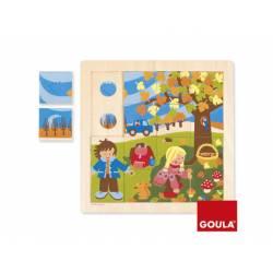 Puzzle Otoño a partir de 2 años 16 piezas marca Goula