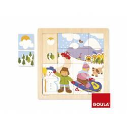 Puzzle Invierno a partir de 2 años 16 piezas marca Goula