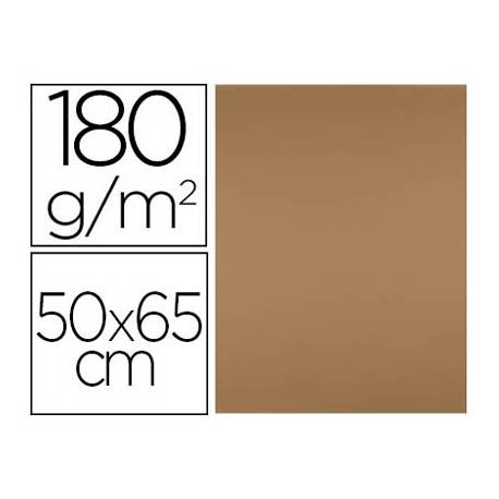 Cartulina Liderpapel Marron 50x65 cm 180 gr