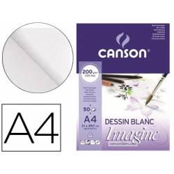 Bloc Dibujo Multitecnicas Canson A4 Encolado Liso
