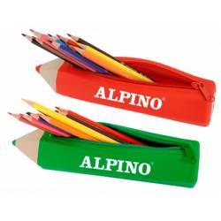 Estuche portatodo Alpino Forma Lapiz con 12 lapices de colores -NO SE PUEDE ELEGIR COLOR-