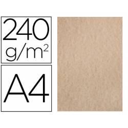 Papel Pergamino Liderpapel DIN A4 240g/m2 Arena Pack de 25 Hojas