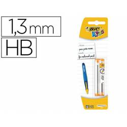 Minas Bic Kids BP Twists 1,3mm HB grafito Blister de 2 tubos 6 minas