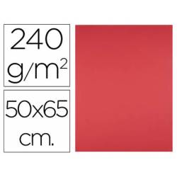 Cartulina Liderpapel Rojo 50x65 cm 240 gr Paquete 25 unidades