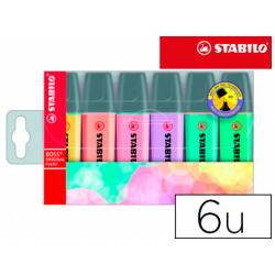 Rotulador Stabilo Boss Pastel Fluorescente estuche 6 unidades
