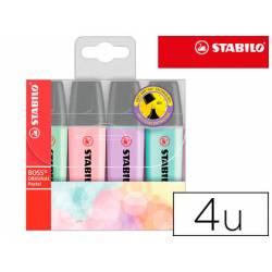Rotulador Stabilo Boss Pastel Fluorescente estuche 4 unidades