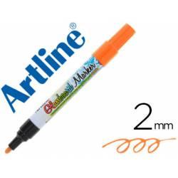 Rotulador Artline Glassboard Marker Especial Naranja Fluor