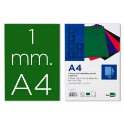 Tapa de Encuadernacion Carton Liderpapel DIN A4 Verde 1mm pack 50 uds