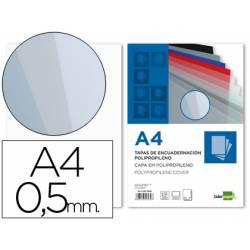 Tapa de Encuadernacion Polipropileno Liderpapel DIN A4 Transparente 0.5mm pack 100 uds