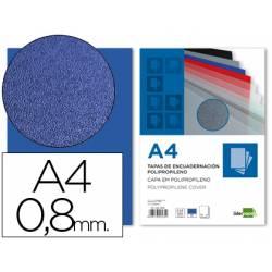 Tapa de Encuadernacion Polipropileno Liderpapel DIN A4 Azul 0.8mm pack 50 uds