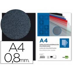 Tapa de Encuadernacion Polipropileno Liderpapel DIN A4 Negra 0.8mm pack 50 uds