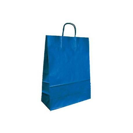 Bolsa Kraft Q-connect Azul 270x120x360 mm