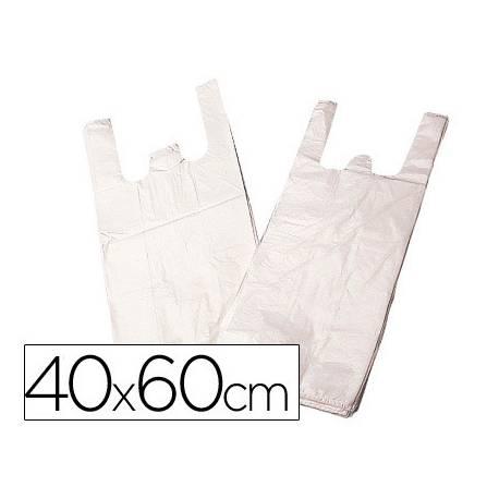 Bolsa de plastico camiseta 40x60 cm 2 asas biodegradable