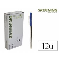BOLIGRAFO GREENING AZUL RETRACTIL