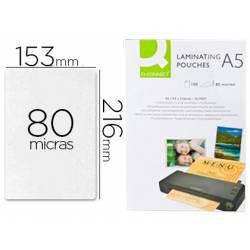 Bolsa de plastificar Q-Connect Din A5 80 Mc