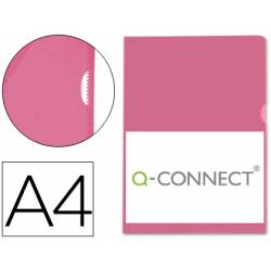 Funda dossier uñero Q-Connect Din A4 rojo Caja de 100