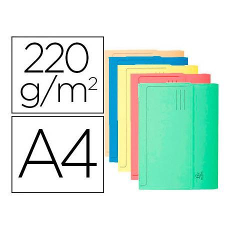 Subcarpeta Cartulina Lustrada A4 Exacompta con bolsa Colores Surtidos 220 gr 10 unidades