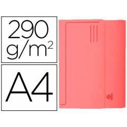 Subcarpeta Cartulina Reciclada A4 Exacompta con bolsa Rojo 290 gr