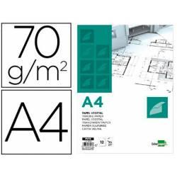 Papel Vegetal Liderpapel DIN A4 70g/m2 Sobre de 12 hojas
