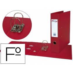 Archivador de Palanca Pardo Plastico Folio Lomo 80 mm Rojo