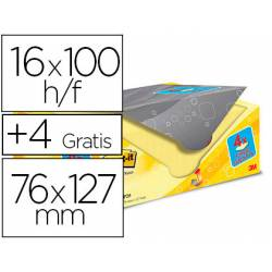 Bloc Quita y Pon Post-It ® Super Sticky 76x127 mm Amarillo Canario