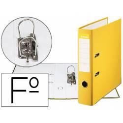 Archivador de Palanca Esselte Carton Forrado Folio Lomo de 75 mm Amarillo