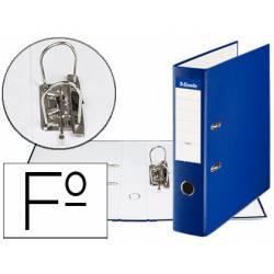 Archivador de Palanca Esselte Carton Forrado Folio Lomo de 75 mm Azul