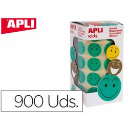 Gomets Apli smile verde 20mm
