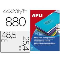 Etiqueta adhesiva Apli transparente 48,5 X 25,4
