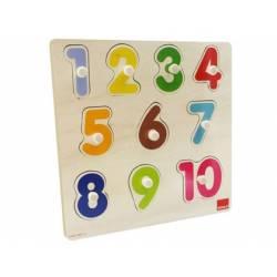 Puzzle a partir de 1 año Números 10 piezas marca Goula
