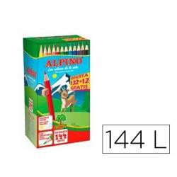 Lápices de colores ALPINO 144