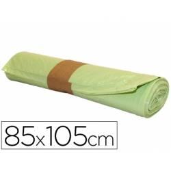 Bolsa basura amarilla 85x105cm uso industrial galga 110 rollo de 10 unidades