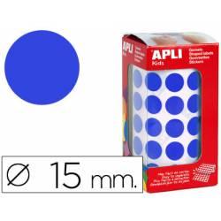 Gomets Apli circulares azules 15mm