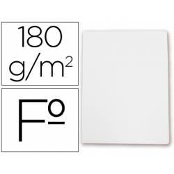 Subcarpetas cartulina Gio folio blanca pastel 180 g/m2